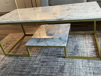 Acrylic Marble & Gold Coffee Table for Sale in San Diego,  CA