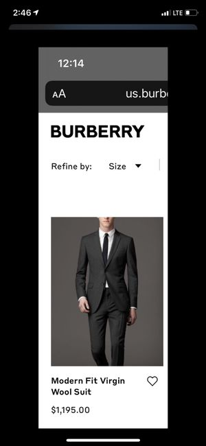Burberry Suit for Sale in Chicago, IL