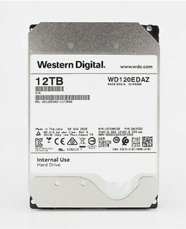 WD 12TB SATA III 5400RPM 3.5-Inch 256MB Cache Internal Hard Drive WD120EDAZ