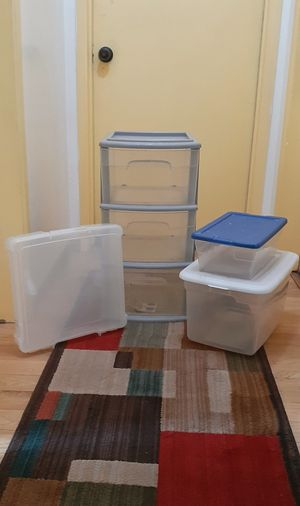 Various Storage Container/Bins Lot of 4 'AS IS' for Sale in Covina, CA