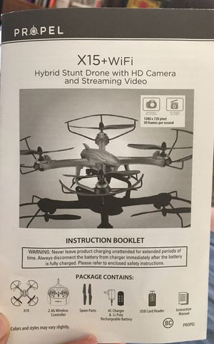 Propel Drone X-15+WiFi & Camera. NE Indy Castleton area for Sale in Castleton, IN
