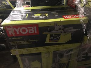 Ryobi 10 inch table saw. 15 amp for Sale in Plant City, FL