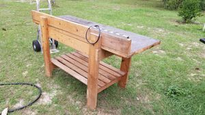 Wood bench table for Sale in Spring Hill, FL