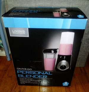 LIVING SOLIUTIONS - ON~THE~GO PERSONAL BLENDER Stainless Steel 2 Cups BPA free for Sale in New York, NY