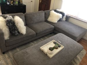 Sectional sofa with Ottoman for Sale in San Jose, CA