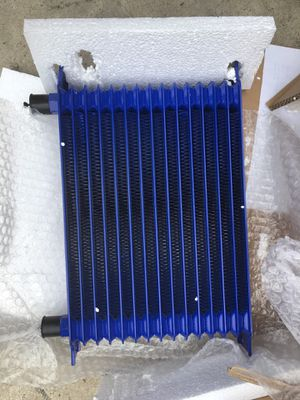 15 Row Aluminum Turbo Engine Transmission Universal Oil Cooler Blue for Sale in Castroville, CA