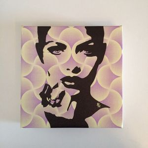 Pop art yellow purple prin wall art for Sale in Miami, FL