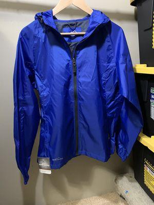 Eddie bauer women's rain blue jacket size M for Sale in San Diego, CA