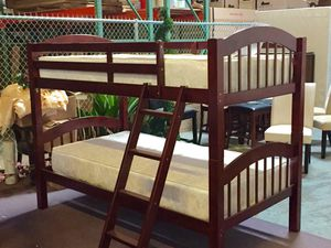 Twin size bunk bed plus twin size plush mattress for Sale in Grand Prairie, TX