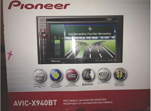 """Pioneer AVIC-X940BT In-Dash Navigation AV Receiver with 6.1"""" WVGA Touchscreen and Built-In Bluetooth for Sale in Avondale, AZ"""