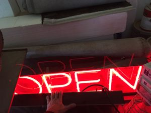 "Neon open sign 12x36"" bright red for Sale in Tacoma, WA"