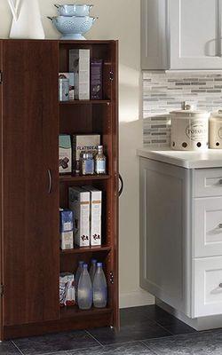 ClosetMaid 1308 Freestanding Kitchen Laundry Utility Room StorageOrganization Pantry Cabinet, Dark Cherry for Sale in Dallas,  TX
