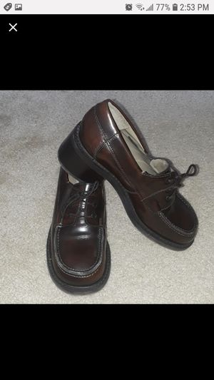 Steve Madden Brown Leather Heeled Loafer for Sale in New Port Richey, FL