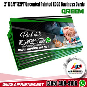 "Business Cards. 2"" X 3.5"" 32PT Uncoated Painted EDGE for Sale in Miami Gardens, FL"