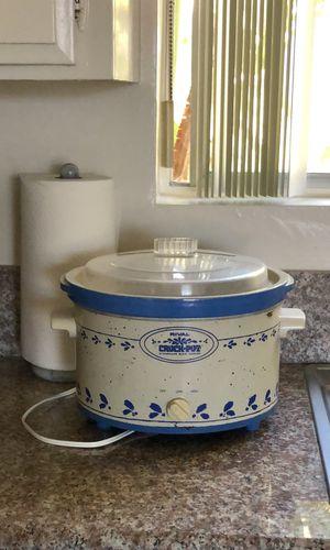 Vintage Rival Stoneware Crock Pot Slow Cooker for Sale in Palos Verdes Estates, CA