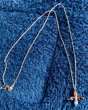 14k Gold w/ Multi-Gemstone Diamond Cross Pendant for Sale in Glendora, CA