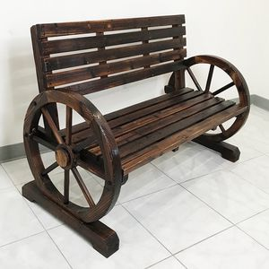 """Brand New $130 Large 50"""" Wooden Wagon Bench Rustic Wheel for Patio Garden Outdoor 50x23x34"""" for Sale in Whittier, CA"""