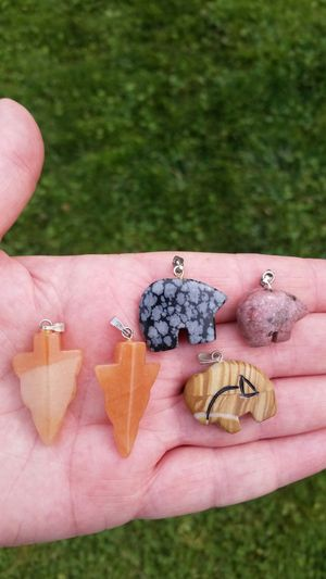New Native American Indian Carved Stone Pendant/Charm for Sale in Wenatchee, WA