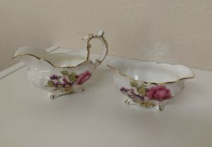 MINT Hammersley & Co. Bone China Tea Cream & Sugar Dishes Made in England Floral for Sale in Beaverton, OR