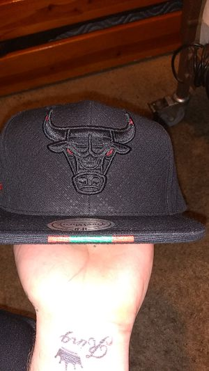 Mitchell and Ness Gucci Bulls hat for Sale in Denver, CO