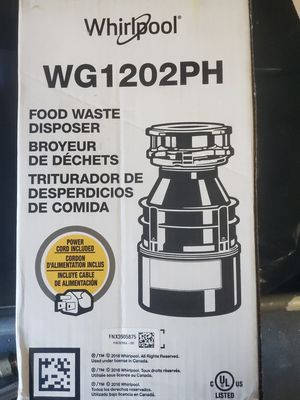 Whirlpool continuous garbage disposal(New) for Sale in Jacksonville, FL