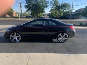 20 inch rims really good condition brand new small scratches nothing to worry about black diamond originals fit Honda Civic /a ccord brand new tires for Sale in Joliet, IL