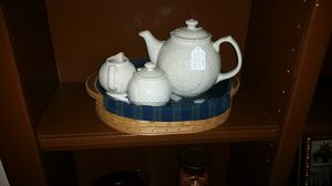 Longaberger Collector's Club tea set and tray, sold separately for Sale in Arlington, TX