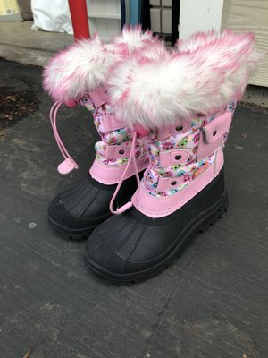 Girls size 12 snow boots for Sale in Folsom, CA
