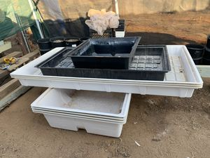 Hydroponic trays, flood trays, grow trays for Sale in Valley Center, CA