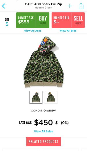 Bape Abc Shark Hoodie for Sale in Oakland, CA