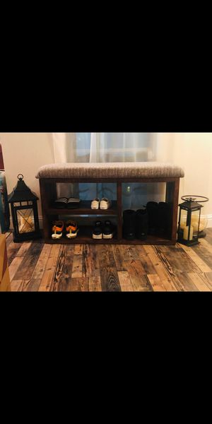Farmhouse furniture shoe entry bench for Sale in Fresno, CA