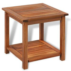 End Table Wooden Side Table Storage for Outdoor Patio Garden Furniture Porch for Sale in Houston, TX