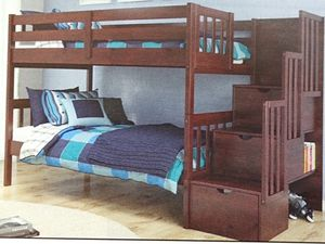 Twin over twin stairs storage bunk bed for Sale in Fort Worth, TX