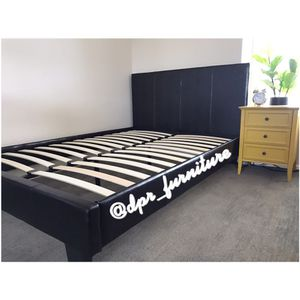 Platform bed frame ! New in box ! Black ! for Sale in San Diego, CA