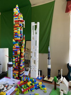 white LEGO custom architecture tower for Sale in Plano, TX