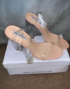 Sandals with clear heel for Sale in Fort Washington, MD