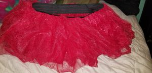 Red sparkly adult Tutu skirt halloween costume/ cosplay/ dress up for Sale in Carson, CA