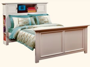 Belmar White/Gray 3 Pc Twin Bookcase Bed (USED) for Sale in Tavares, FL