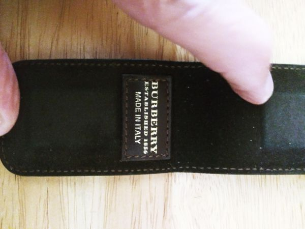 Burberry money clip.