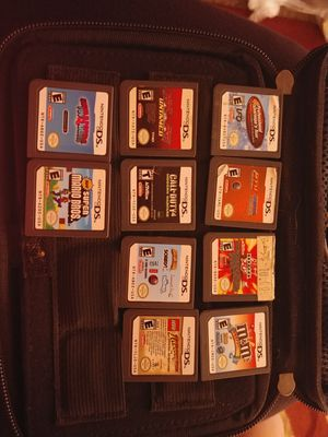 Dsi games with a case and a charger for Sale in US