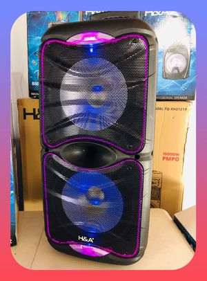 """Karaoke Rechargeable 2x12"""" Woofer Bluetooth speaker party Church for Sale in Fremont, CA"""