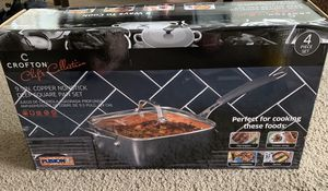 Crofton 9.5 copper nonstick deep square pan for Sale in Huntington Beach, CA