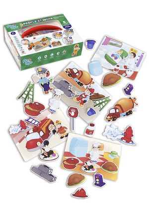 People at Work games for toddlers 3 years old. Picnmix board games for kids 3 and up. Educational puzzles and stickers for baby - Eco-Friendly Plasti for Sale in Brooklyn, NY