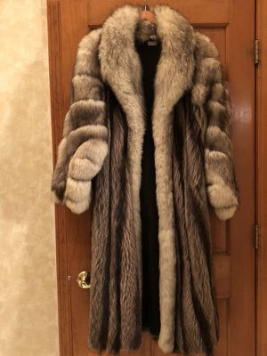 Full length Raccoon coat with Fox collar and sleeves for Sale for sale  Freehold, NJ