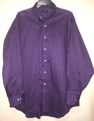 "IZOD | Men's Purple Button Up Longsleeve Dress Shirt | Neck 17"" Sleeve 34-35"" Size XL for Sale in Raleigh, NC"