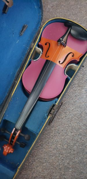 Hand-painted student violin with bow and wooden case for Sale in Carrboro, NC