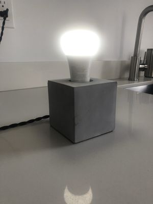 Modern concrete table lamp with Philips Hue Bulb for Sale in Miami, FL