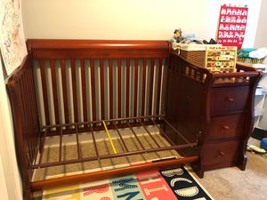 Baby Convertible Crib/Changing Table with Dresser and Storage for Sale in Columbus, OH
