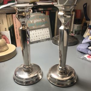Crabtree & Evelyn Silver Candle Holders for Sale in Fairfax, VA