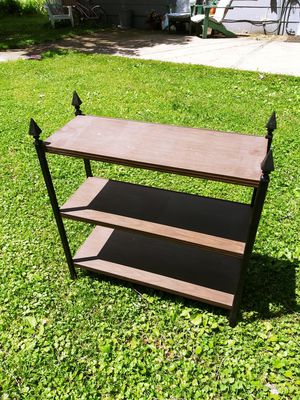Solid Metal MCM Shelf! 3 Levels. Great as a plant Stand! Excellent condition!!! 11.5D x 31W x 33 H No Wear like new!!! for Sale in Joliet, IL